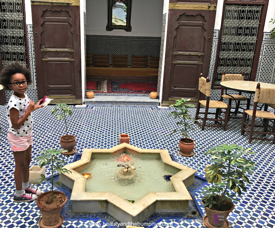 Riad Tafilalet Interior Courtyard
