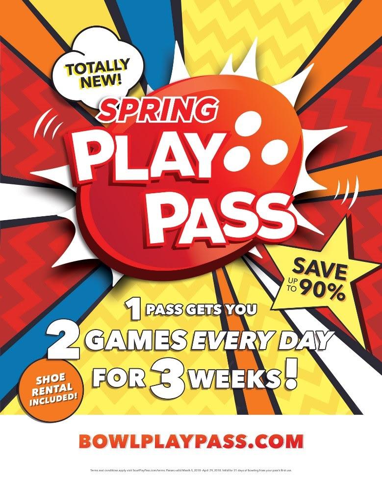 Bowlmor Spring Play PAss