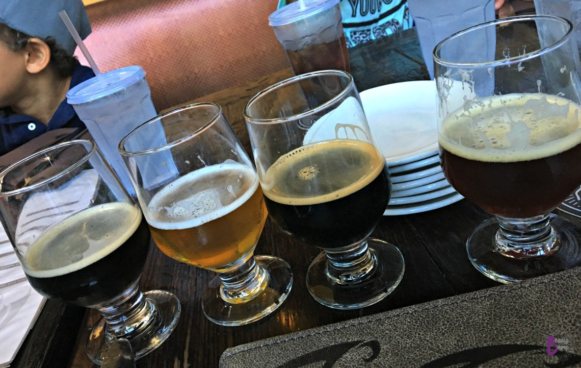 Good Food and Even Better Beer in San Diego_Stone brewing Flight of beers