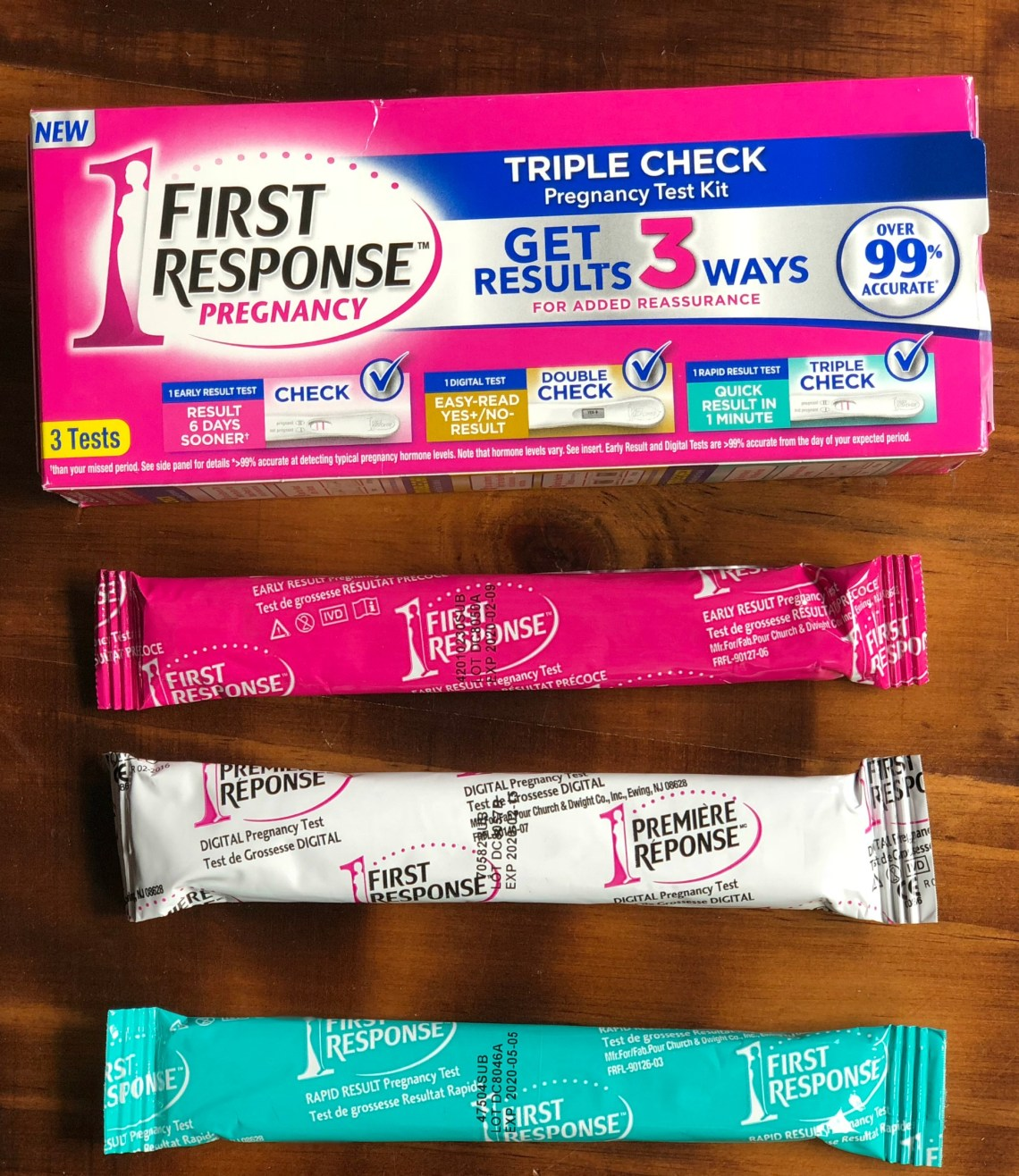 First Response Triple Check can help you find out if you're pregnant at least 6 day earlier