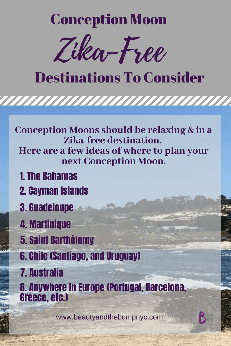 If you're planning a conception moon or baby making vacation chekc out these zika-free destinations