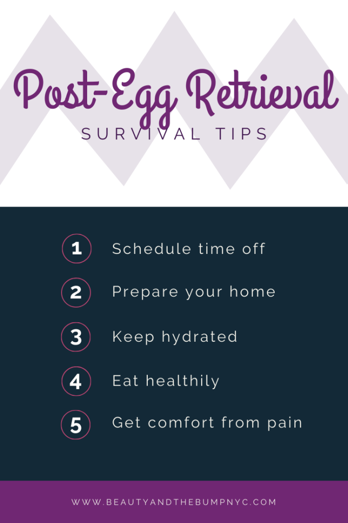 5 Tips to survive post IVF egg retrieval