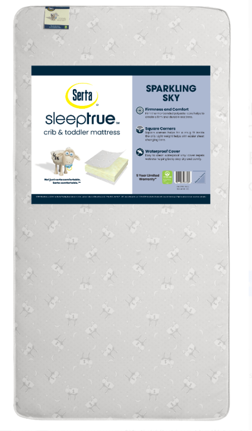 Serta SleepTrue Sparkling Sky 5-Inch Crib and Toddler Mattress - $47.99