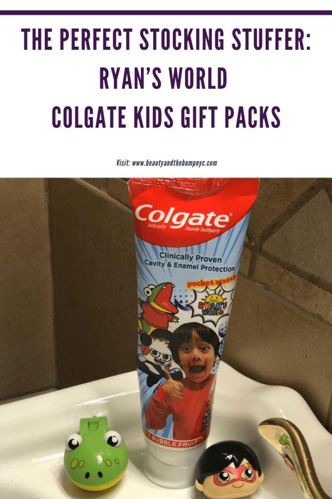 Ryan's World Colgate Kids gift packs are the healthier alternative to toys and make the perfect stocking stuffer for kids this holiday season.