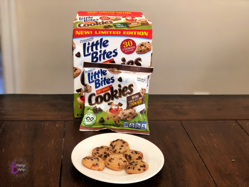 The Little Bites Soft Baked Chocolate Chip Cookies are perfectly portioned, containing six (6) mini cookies per pouch. It's just enough to satisfy her sweet tooth.