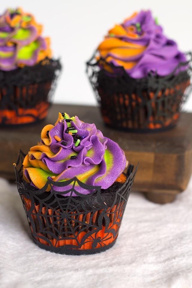 Halloween Swirl Cupcakes