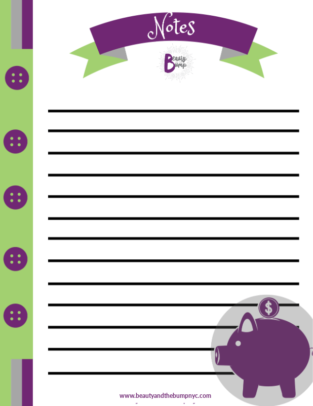 This kids money savings planner will help parents teach kids how to earn and save money for their wants and needs.