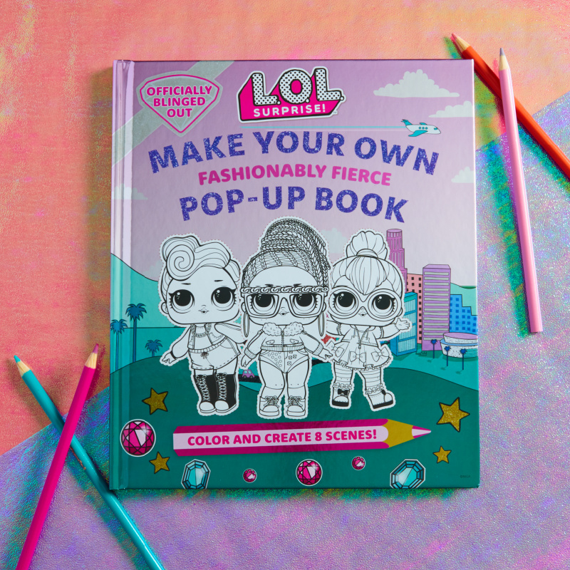 Follow the step-by-step instructions to color and create eight pop-up scenes featuring L.O.L. Surprise! dolls, pets, accessories, and more!