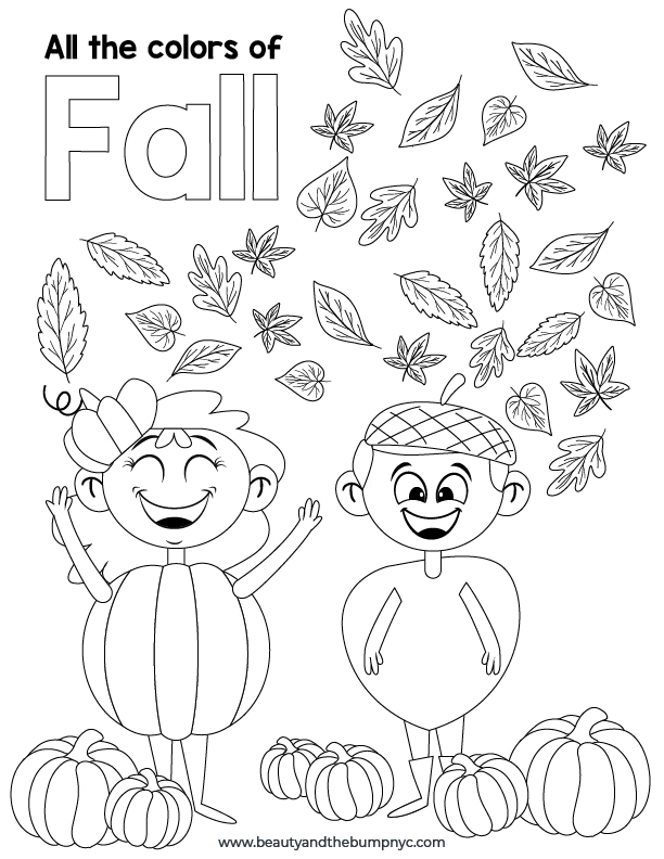 Fall Activities for Kids - Coloring Page