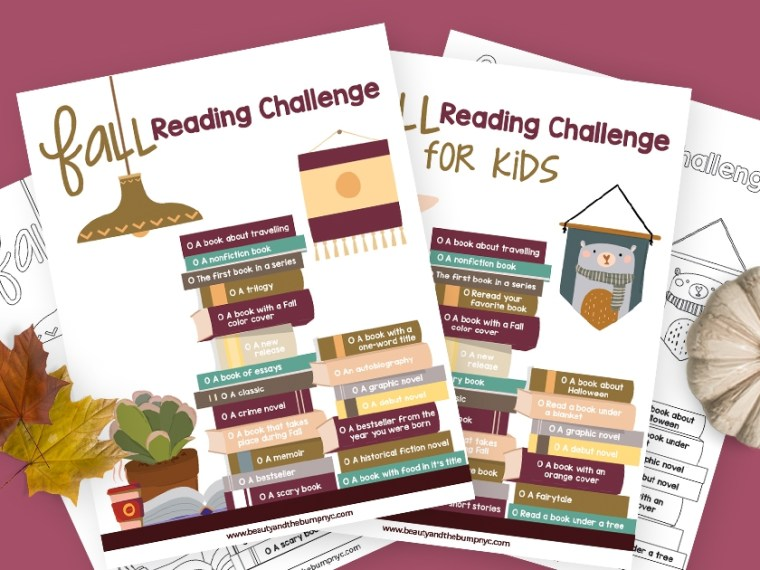 Want to fit more reading into your schedule, or just want to make it a regular habit, this fall reading challenge is definitely for you!