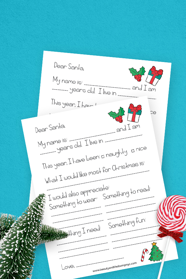 If you want to bring some extra magic to my kids during the holiday season, print this unique fill-in-the-blank letter to Santa Claus.