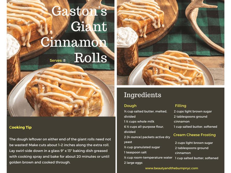 Gaston's Giant Cinnamon Rolls Recipe. Best Cinnamon Rolls recipe Gaston's Giant Cinnamon Rolls Recipe