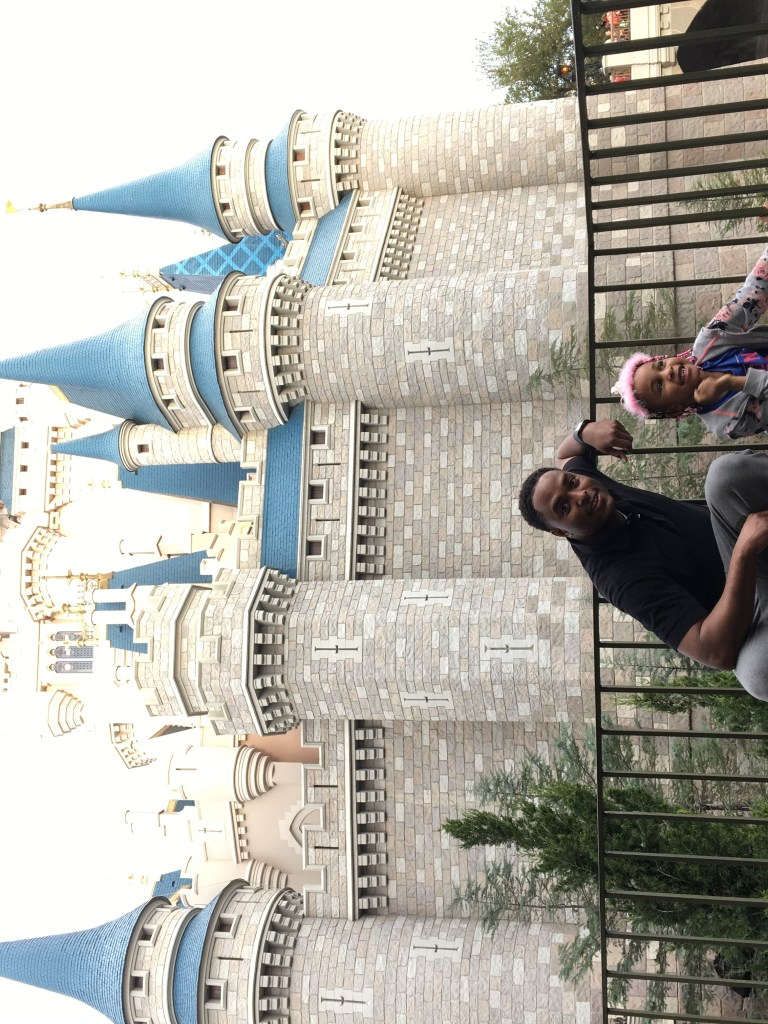 Father and Daughter First Trip to Disney World Disney's Magic Kingdom
