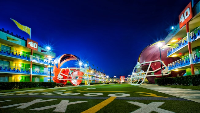 All-Star Sports is considered to be the worst among all of the Disney value resorts. While All-Star Music is not much different, the family suites alone make it one of the best Disney resorts for large families.