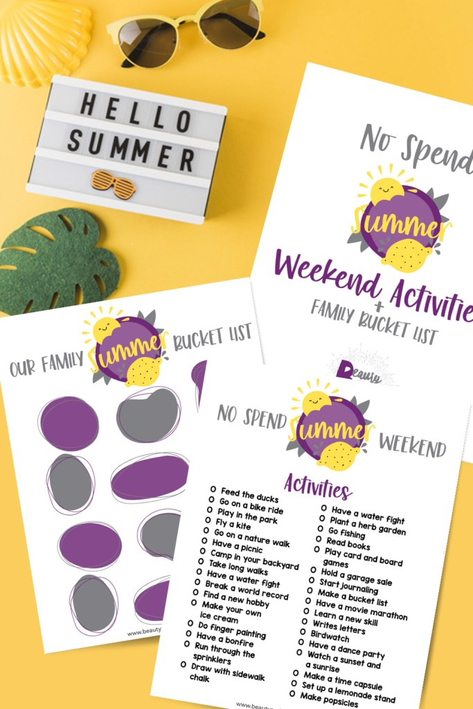 Summer can get expensive keeping your family active. This Summer Bucket List Activities printable will help you save and make memories. No spend challenge friendly summer activities