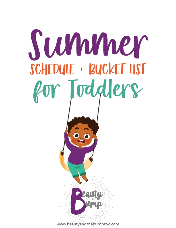 To keep me sane I've come up with a toddler schedule so we can have productive days during the summer months. It's important that I keep my kids busy and on schedule, especially the toddler.