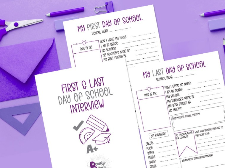 Commemorate school year milestones with this first and last yday of school interview printable