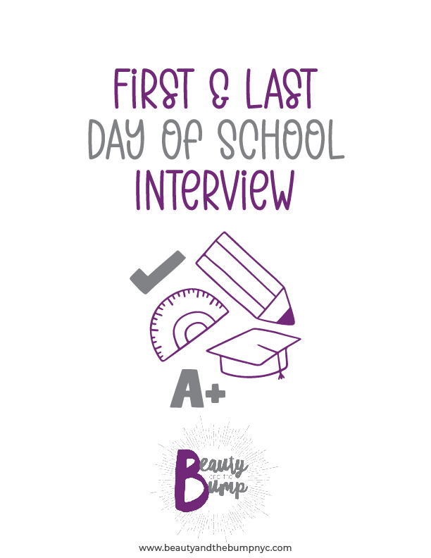 This First and Last Day of School Interview printable will help commemorate milestones associated with kids' first and last days of school.