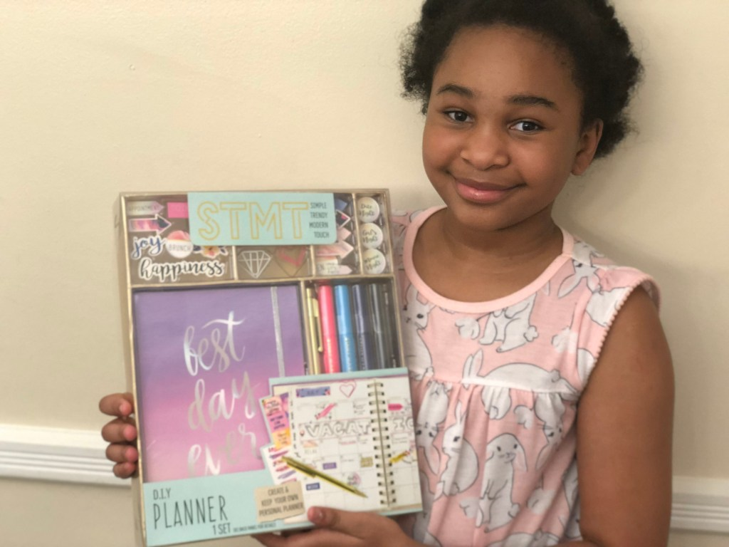 """She was so excited to receive this STMT Planner so that she can stay on top of her school work, chores, and personal goals this school year. She said, """"Mommy, I'm going to be in fifth grade! I need to be organized."""" That just made my little Virgo mama heart smile."""
