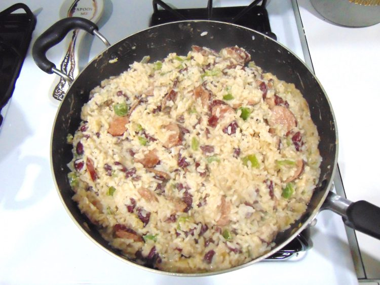 My family's Cajun rice beans and sausage, or red beans and rice recipe! So great as a main dish or a side dish and perfect for leftovers #cajun #recipe #food #cajunfood #redbeansandrice