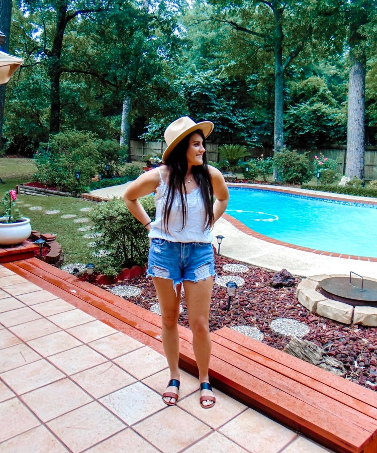 Stock up on your summer staples now! Sharing my favorite go-to staples for summer including shorts, hats, sandals, tops, hair scarves and more #summer #summerstaples #summerstyle #summerfashion #boho #bohostyle