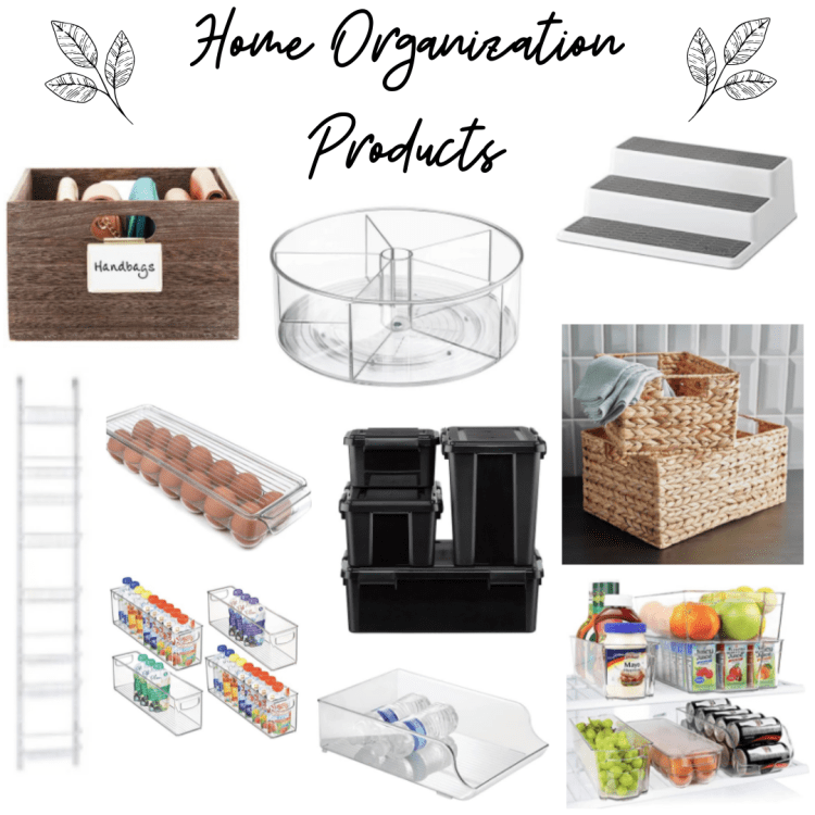 Home Organization Products! Since we're spending so much time at home in quarantine, it's time to organize, organize, organize #stayhome #organization #stayathome #home #homeorganization #organize #blog #blogpost #organizationblog #homedecor #decor #baskets #pantryorganization #beauty #beautyorganization #bathroomorganization #fridgeorganization #garageorganization #thecontainerstore
