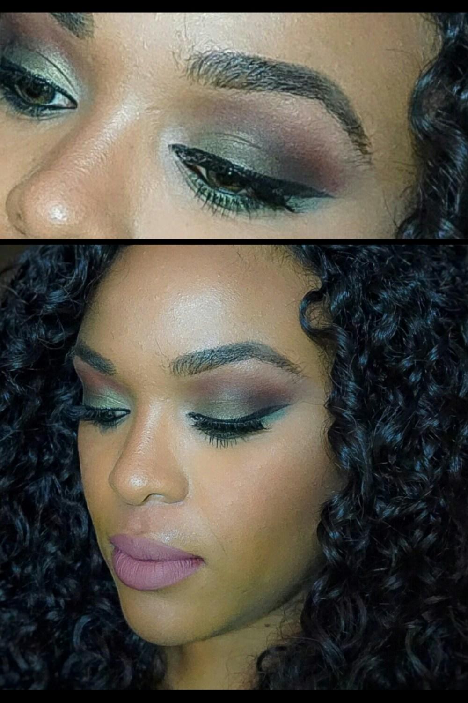 GRWM: Green Eyeshadow and a Nude Lip