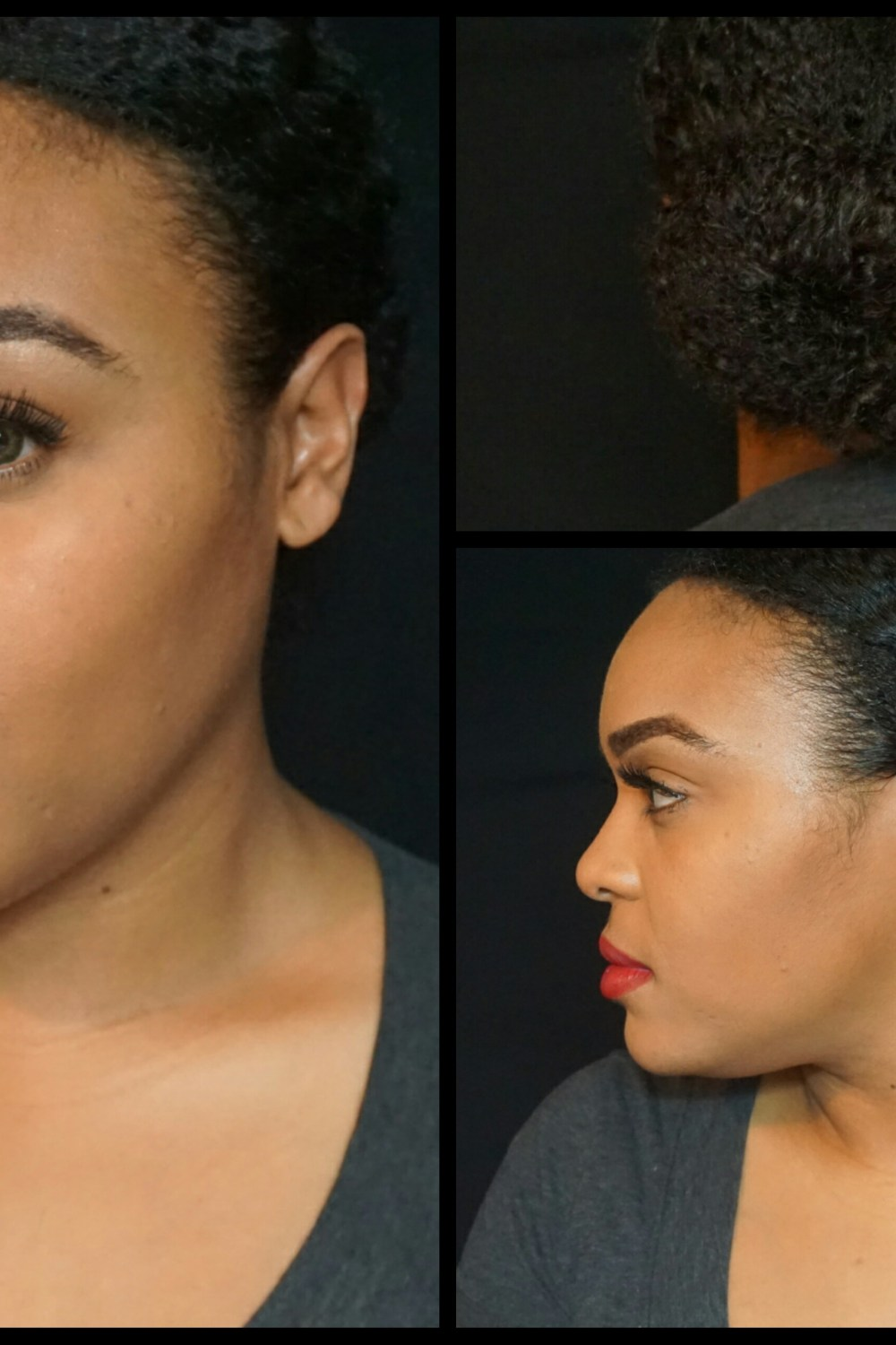 Natural Hair Tutorial: Low Bun