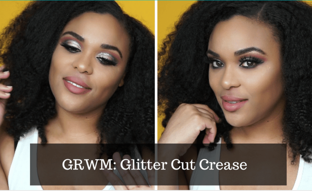 GRWM| Purple Glitter Cut Crease