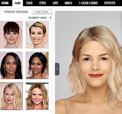 Virtual hairstyle and makeup makeover