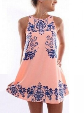women-s-sleeveless-round-neck-flowers-printed-summer-mini-a-line-chiffon-dress1
