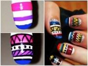 diy tribal nail art