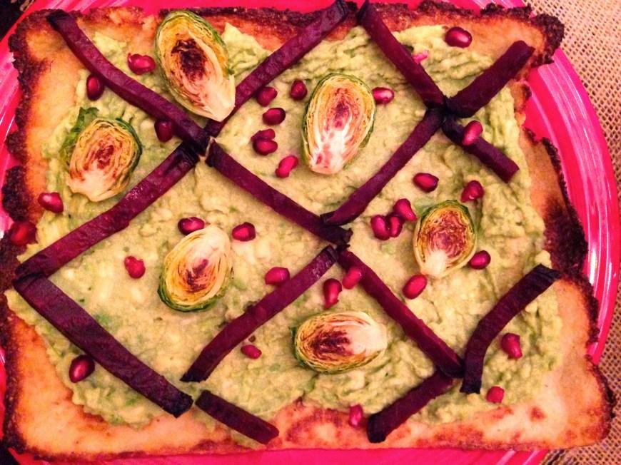 Beet & Brussels Flatbread by BeautyBeyondBones #glutenfree #vegan #paleo #vegetarian #edrecovery #healthyfood #healthy