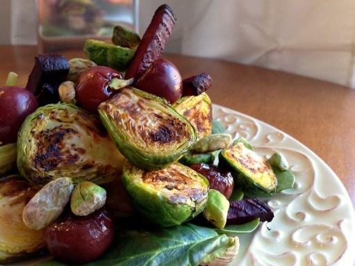 Beet and Brussels Sprouts Salad BeautyBeyondBones #glutenfree #grainfree #vegan #paleo #scd #edrecovery #food