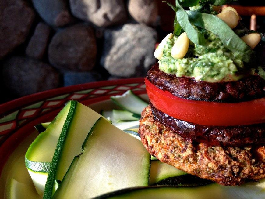 Grain Free Veggie Burger by BeautyBeyondBones #glutenfree #vegan #vegetarian #dinner #paleo #grainfree #healthy #healthyfood #edrecovery