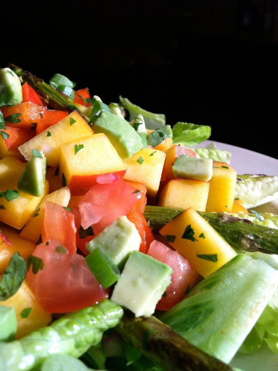 Peach Salsa Salad by BeautyBeyondBones #glutenfree #paleo #vegan #specificcarbdiet #edrecovery #food #vegetarian #summer