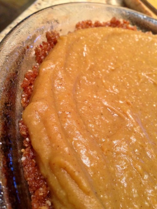 Paleo Pumpkin Pie by BeautyBeyondBones #edrecovery #glutenfree #vegan #food #dessert #thanksgiving #pumpkin