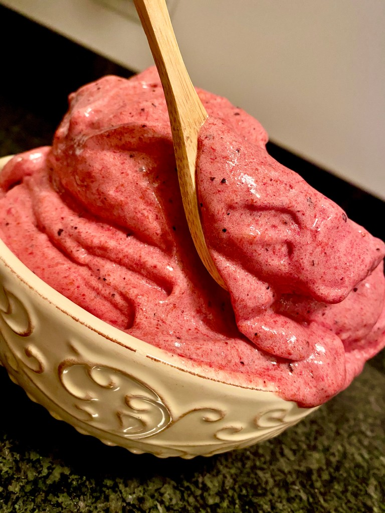 Peach and Pineapple Ice Cream by BeautyBeyondBones #dessert #healthy #dinner #glutenfree #vegan #paleo #dairyfree #sweets #nicecream #vegetarian #coronavirus #food #edrecovery