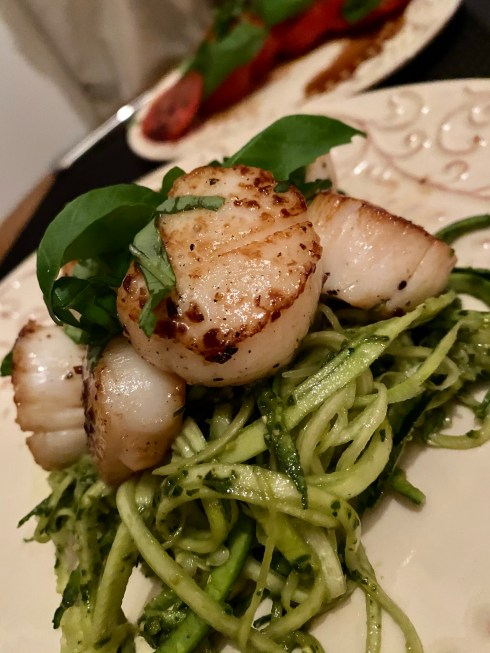 Perfectly Seared Pesto Scallops by BeautyBeyondBones #food #glutenfree #grainfree #italianfood #healthyfood #health #paleo #keto #specificcarbohydratediet #cooking #edrecovery