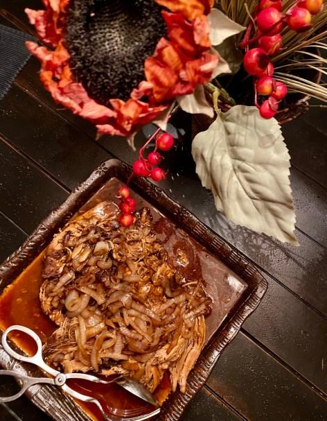 Mouth watering pork tenderloin by BeautyBeyondBones #food #dinner #glutenfree #pork #meat #healthyfood #crockpot #slowcooker #easydinner #edrecovery #recovery #yum