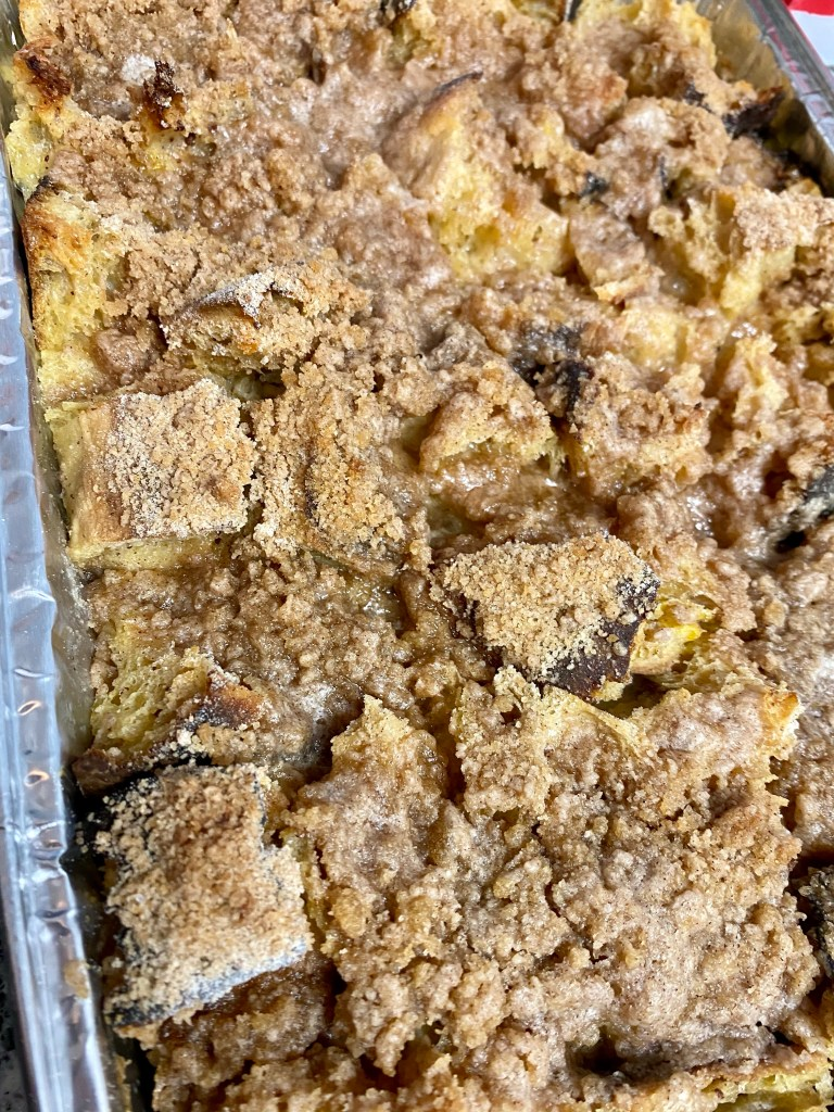 Overnight French Toast Casserole by BeautyBeyondBones! #food #breakfast #brunch #casserole #frenchtoast #vegetarian #food #edrecovery