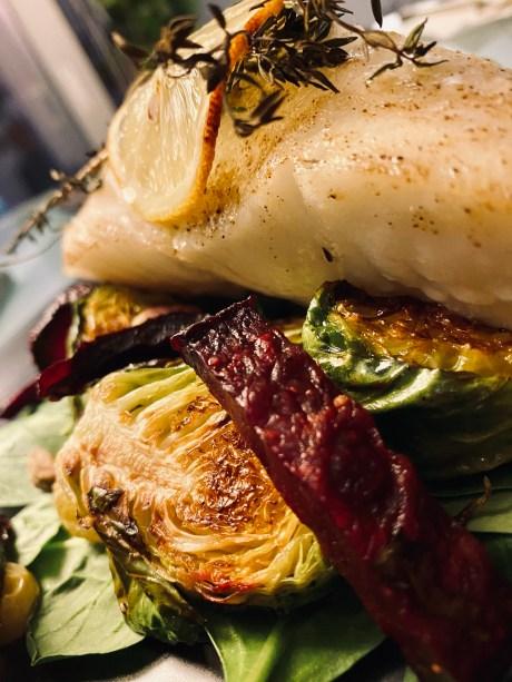 Halibut with Pistachio Quinoa Pilaf by BeautyBeyondBones #food #healthyfood #lent #dairyfree #glutenfree #keto #paleo