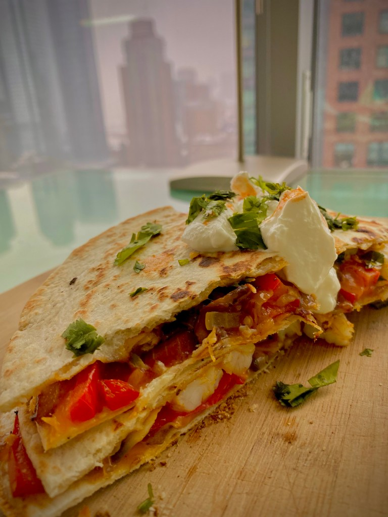 Shrimp and Veggie Quesadillas by BeautyBeyondBones #food #glutenfree #keto #paleo #mexicanfood #healthyfood #healthy #avocado #edrecovery