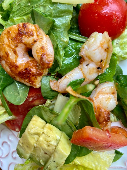 Cajun Shrimp Salad! by BeautyBeyondBones #edrecovery #food #lunch #salad #Healthy #healthyfood #glutenfree #paleo #keto