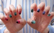 diy nail art tribal-inspired design