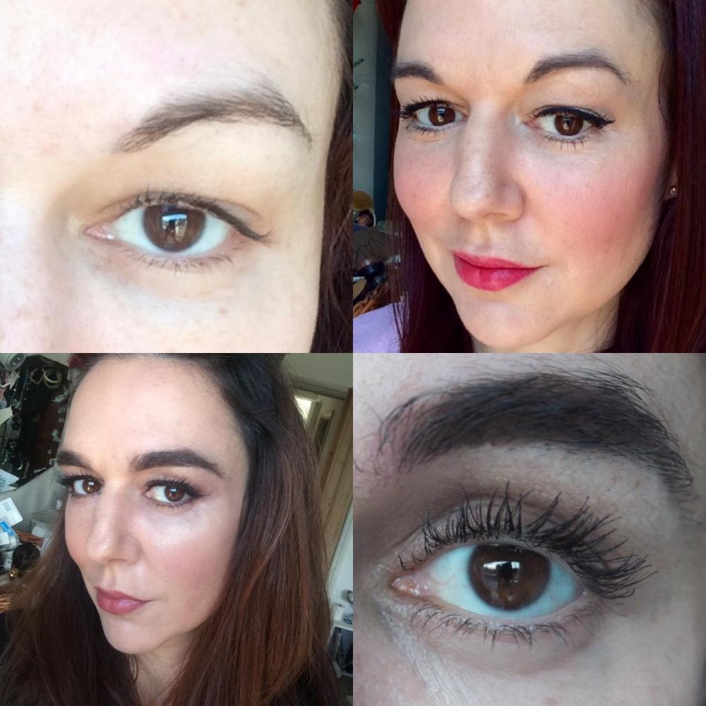 how to grow back overplucked 90s eyebrows- before and after collage