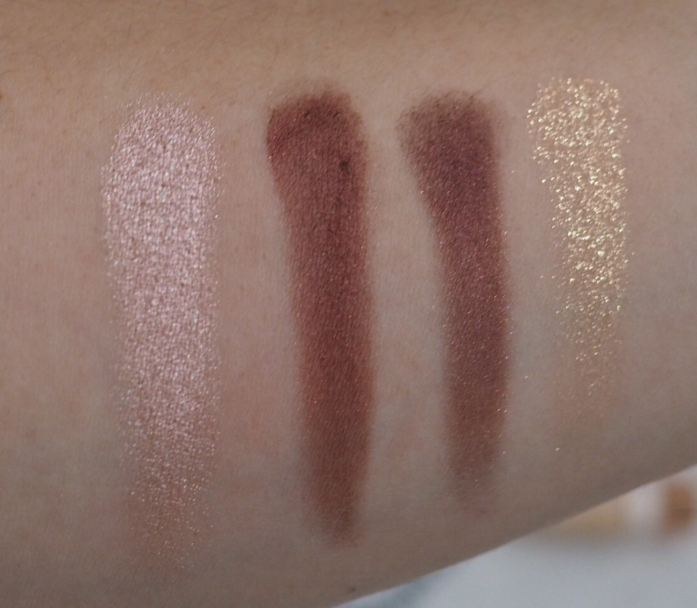 Charlotte Tilbury Colour Coded Eyeshadow Quad in Vintage Vamp Swatches