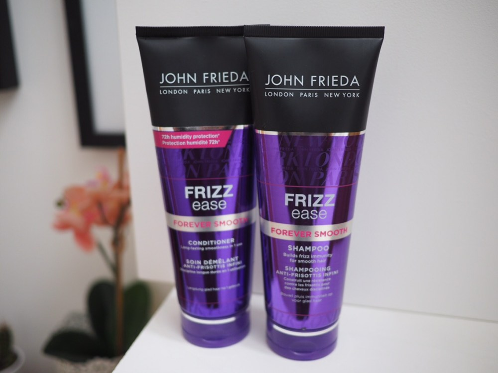 New Look John Frieda Frizz Ease Review shampoo and conditioner tubes