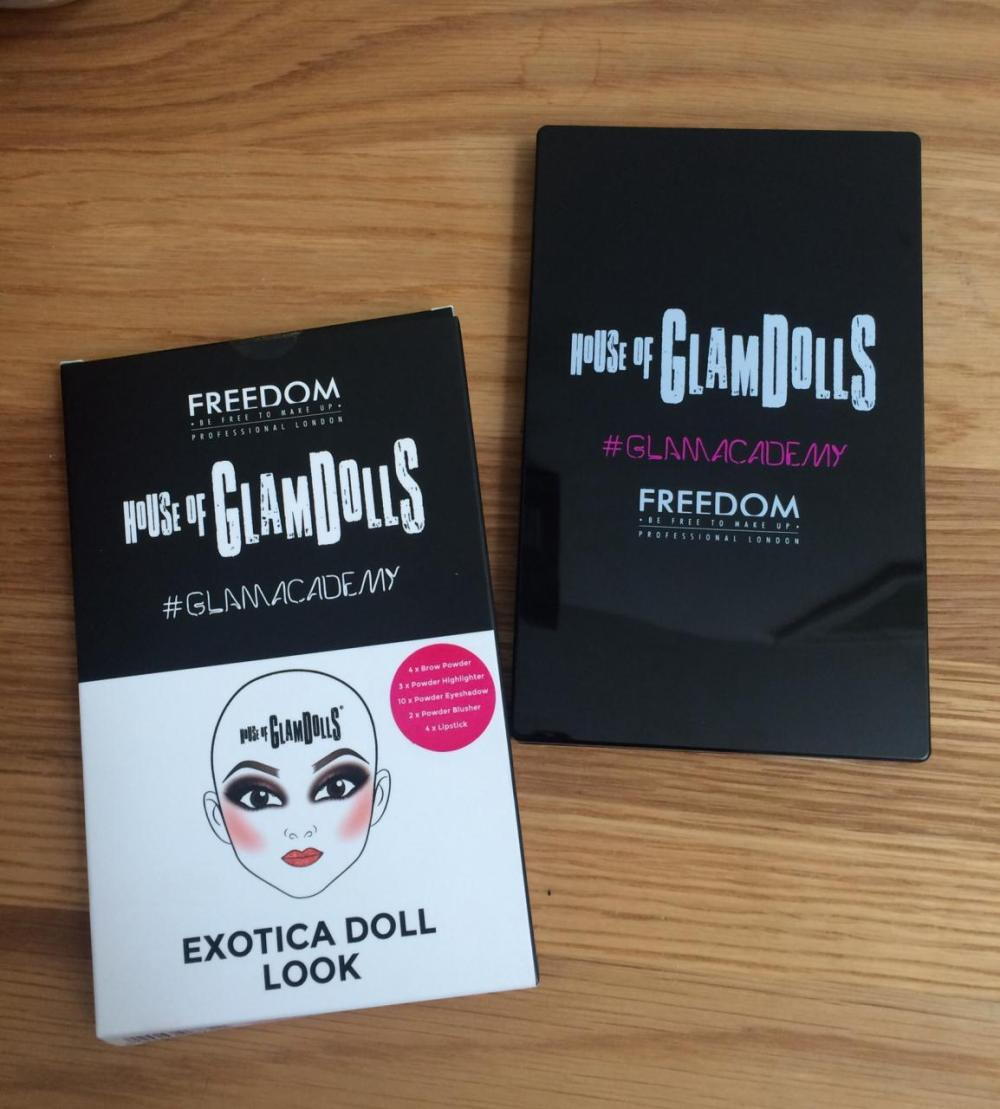 Freedom House of Glam Dolls Exotica Doll Palette Packaging