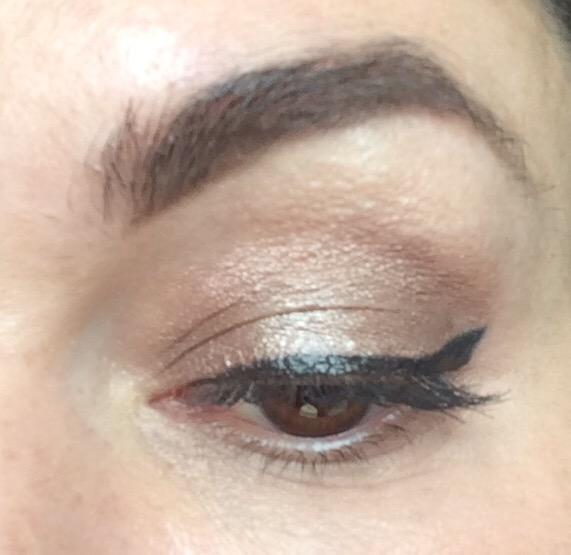 Maybelline Colour Tattoo cream gel eyeshadow on and on bronze worn